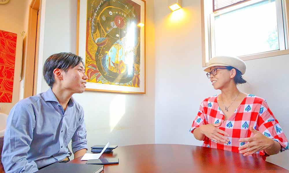 ディレカ導入対談 ~ディレカびと ~ Happy Food Cafe Tiger☆ 活水器についた対談風景