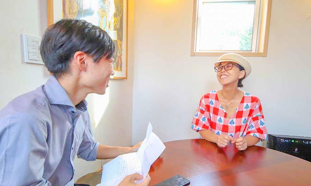 ディレカ導入対談 ~ディレカびと ~ Happy Food Cafe Tiger☆ 原田さんと山口さん活水器対談風景